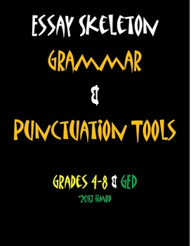 "Grammar & Punctuation Tools Mnemonic Poster (11""x17"")"
