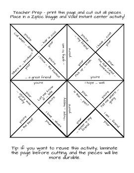 Grammar Puzzle - You're vs. Your Homophones