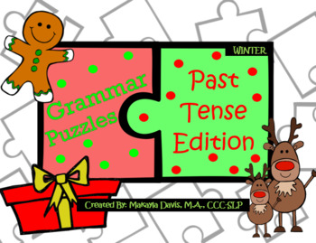 Grammar Puzzles Past Tense Winter Edition