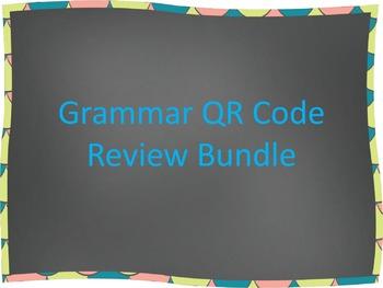 Grammar QR Code Review Bundle