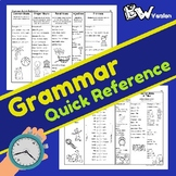 Grammar QUICK Reference (B/W Version)