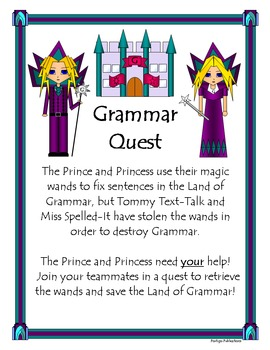 Grammar Quest: Parts of Speech {noun, verb, adjective, adverb, conjunction}