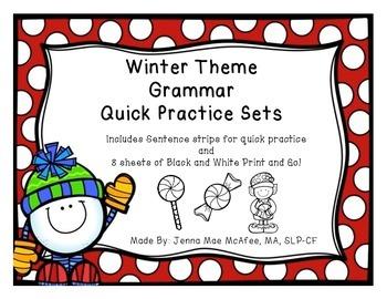 Grammar Quick Practice Set (Winter Theme)