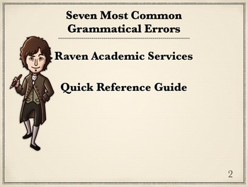 Grammar Quick Reference