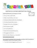 Grammar Quiz - Preposition, Adverb, Prepositional Phrase