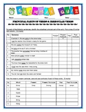 Principal Parts of Verbs & Irregular Verbs Quiz/Assessment