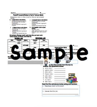 Grammar Quiz Packet