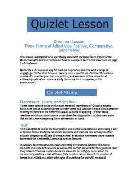 Levels of Adjectives - Quizlet Grammar Lesson
