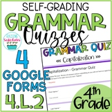 Grammar Quizzes 4.L.2 Google Forms 4th Grade Distance Learning