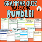 Digital Grammar Quizzes BUNDLE! 11 Grammar Assessments - G