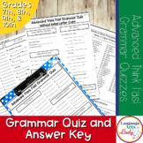 Advanced Grammar Quizzes With Answers | Advanced Grammar Drills