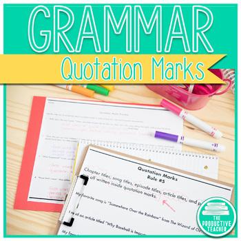 Grammar: Quotation Marks