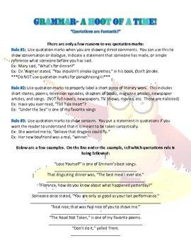 Grammar- Quotations
