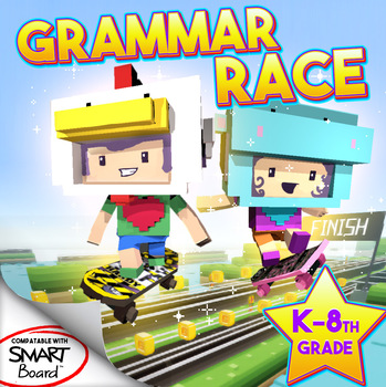 Grammar Race Smart Board Game!