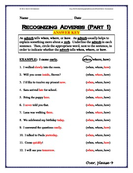 Grammar - Recognizing Adverbs - Three-Pack of Worksheets