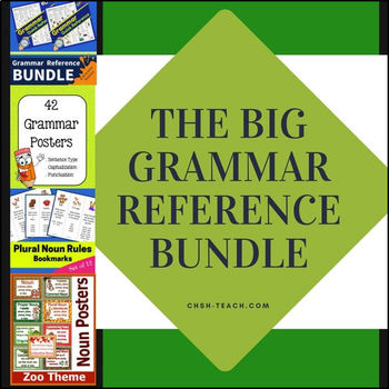 BIG Grammar Reference BUNDLE (Posters, Charts and Bookmarks)