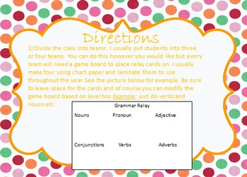 Grammar Relay Races