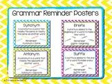 Grammar Reminder Posters