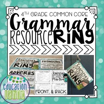 Grammar Resource Ring: Fourth Grade