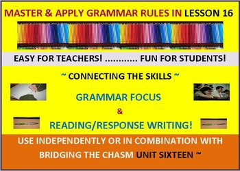 CCSS: Grammar & Response Writing-16: With short story, The Night Hawks!