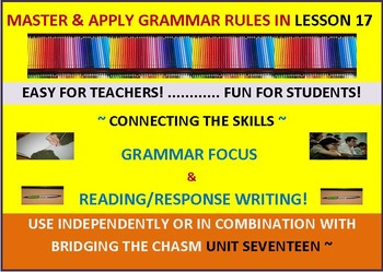 CCSS: Grammar & Response Writing-17: With short story, Mr. Sanders!
