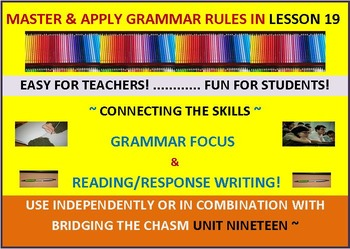 CCSS: Grammar & Response Writing-19: With Original short story, The Memory!