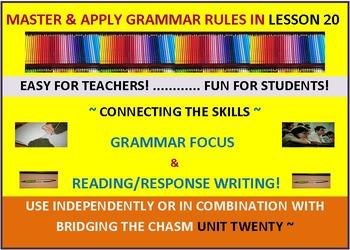 CCSS: Grammar & Response Writing-20: With original story, Mr. Dumas's Hometown!
