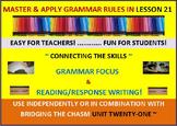 CCSS: Grammar & Response Writing-21: With original story, Midnight Mischief!