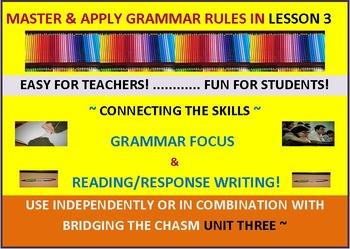 CCSS:Grammar & Response Writing 3: Featuring Short Story, The Speech of Dynamos