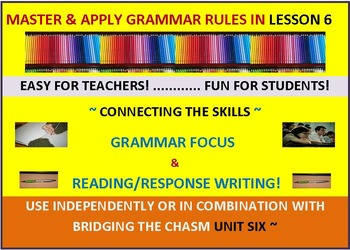 CCSS: Grammar & Response Writing-6: With Short Story, The Karate Kid