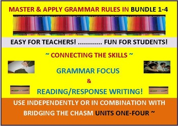 CCSS: Grammar & Response Writing BUNDLE 1-4: All with orig