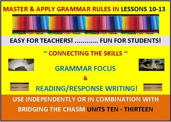 CCSS: Grammar & Response Writing Lessons 10-13 ALL WITH ORIGINAL STORIES!