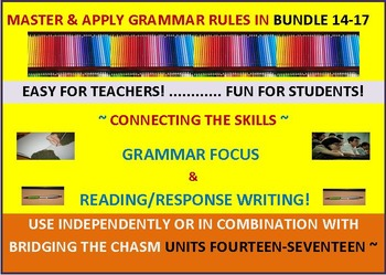 CCSS: Grammar & Response Writing BUNDLE 14-17: Each With Its Own Short  Story!
