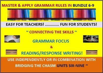 CCSS: Grammar & Response Writing BUNDLE 6-9: All With Original Short Stories!