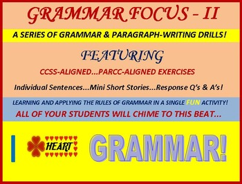 Grammar & Response-Writing Textbook Edition: CCSS and PARCC-Aligned