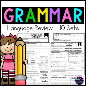 Grammar Worksheets for Grammar Review