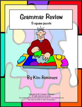 Grammar Review 9 Square Puzzle