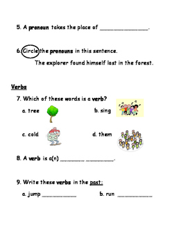 Grammar Review Assessment