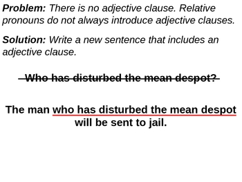 Grammar Review: Common Misuse of Adjective Clauses