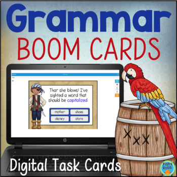 Grammar Review DIGITAL Task Cards BOOM CARDS Gr 2-3