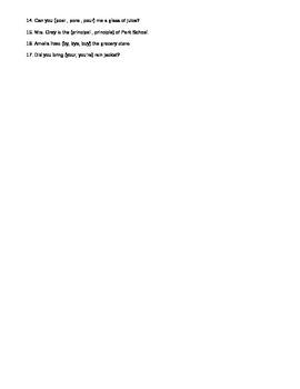 Grammar Review Exercises 2