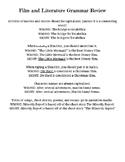 Grammar Review: Film Titles