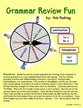 Grammar Review Fun