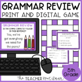 Grammar Review Game for 5th Grade | Grammar Review Center for 5th Grade