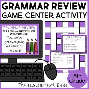 Grammar Review Game for 5th Grade   Grammar Review Center for 5th Grade