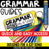 Grammar Review Reference Guides for a Key Ring | Reading Centers