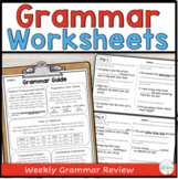 Grammar Review Packet for Fourth Grade