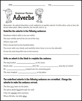 Grammar Review - Parts of Speech (PRINT AND GO)