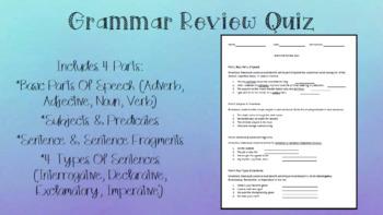 Grammar Review Quiz