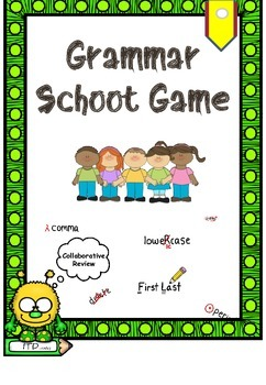Grammar Review Scoot Game for Types of Sentences, Subjects and Predicates